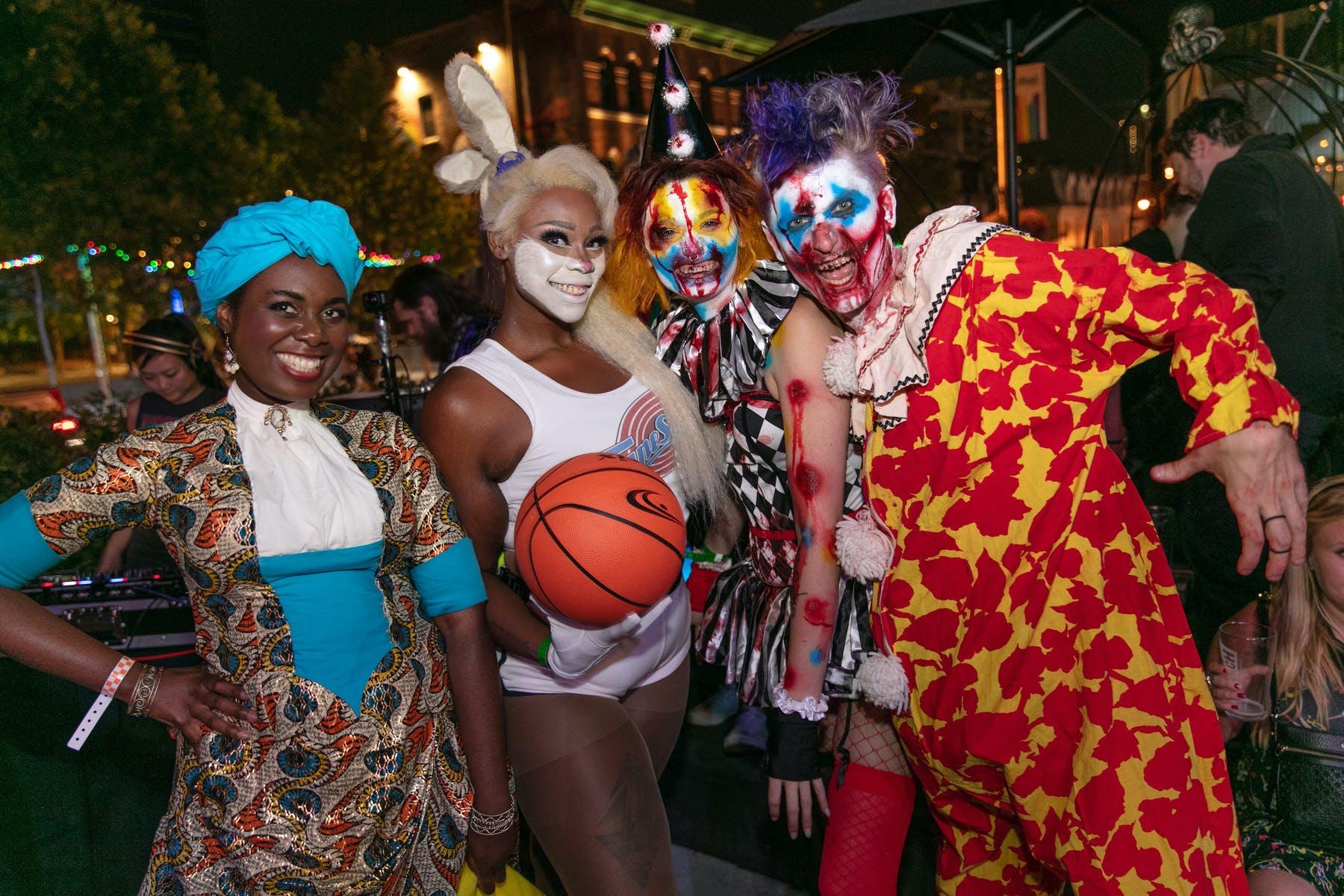 Tionne Watkins et al. wearing costumes