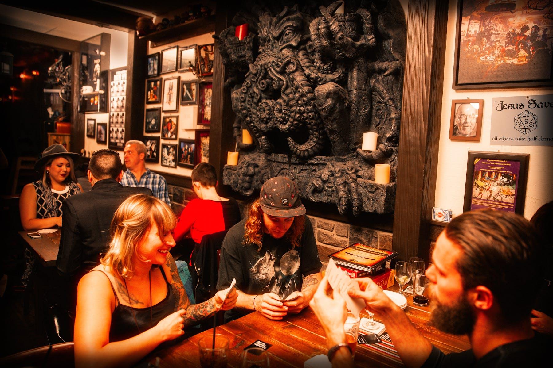 Inside decor of Storm Crow Tavern