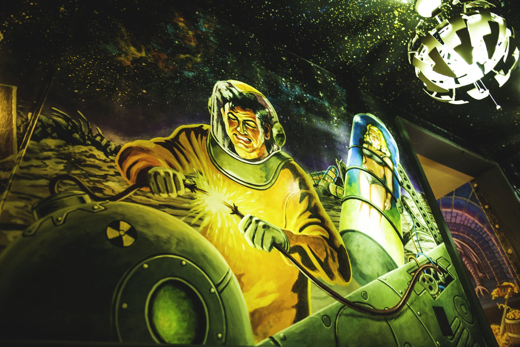 Sci-fi inspired decor at Storm Crow Alehouse