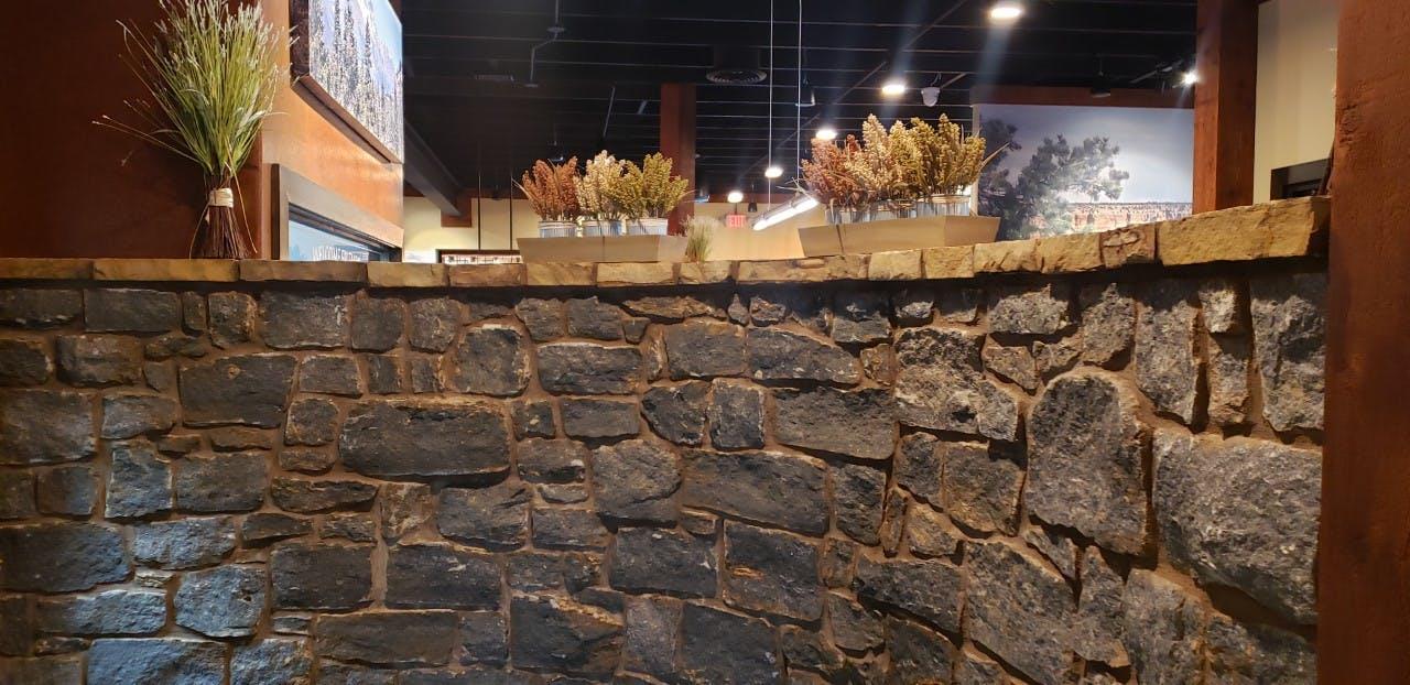 a stone wall