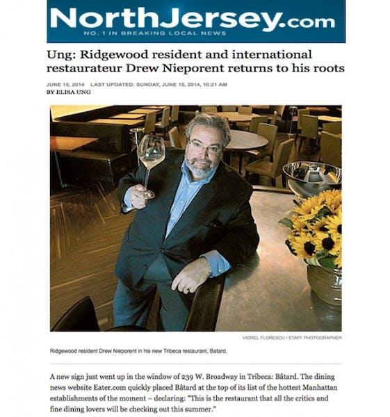 Drew Nieporent in a newspaper