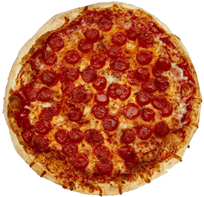 a large pepperoni pizza