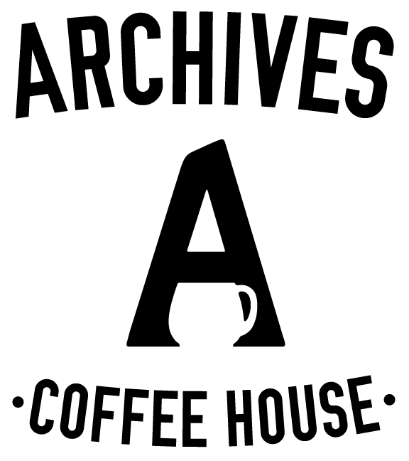 a close up of a A Coffee House Logo