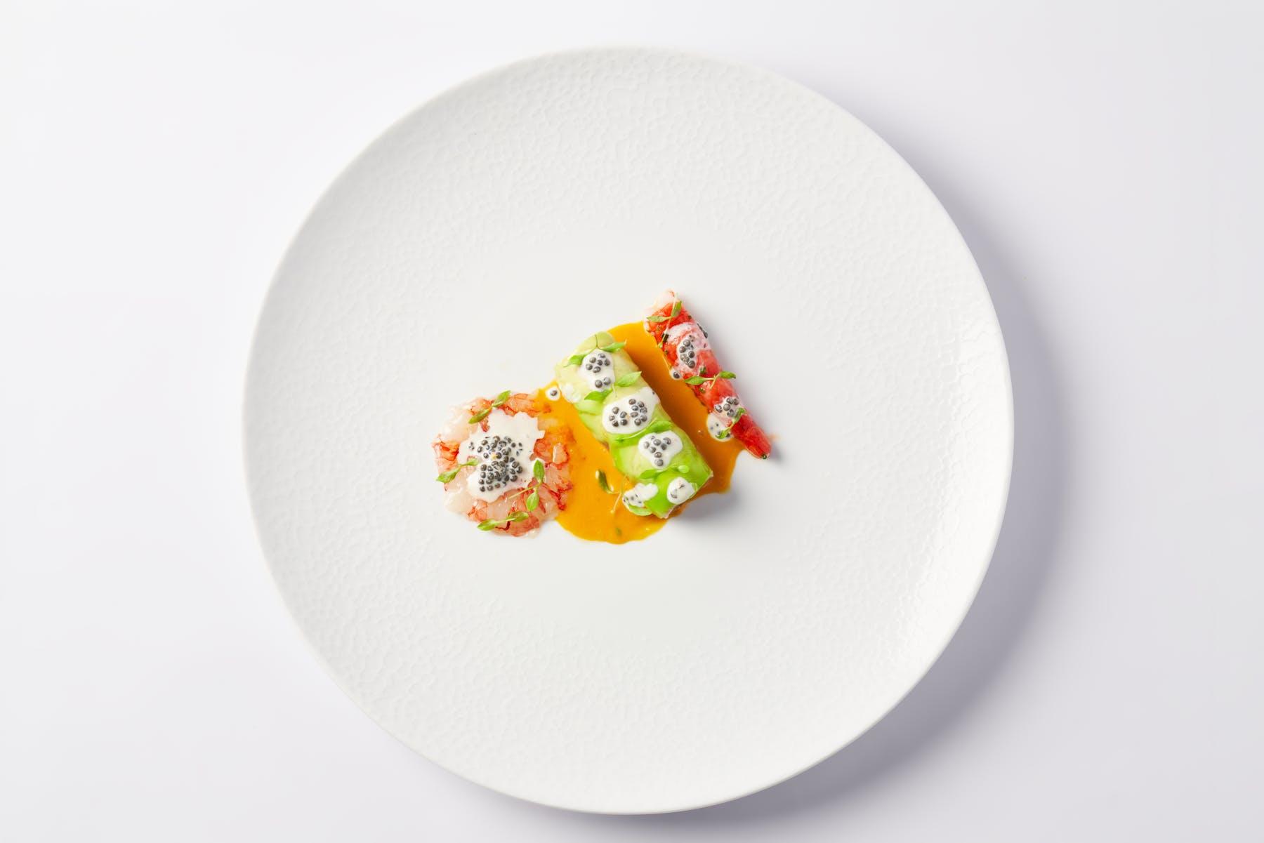 a white plate