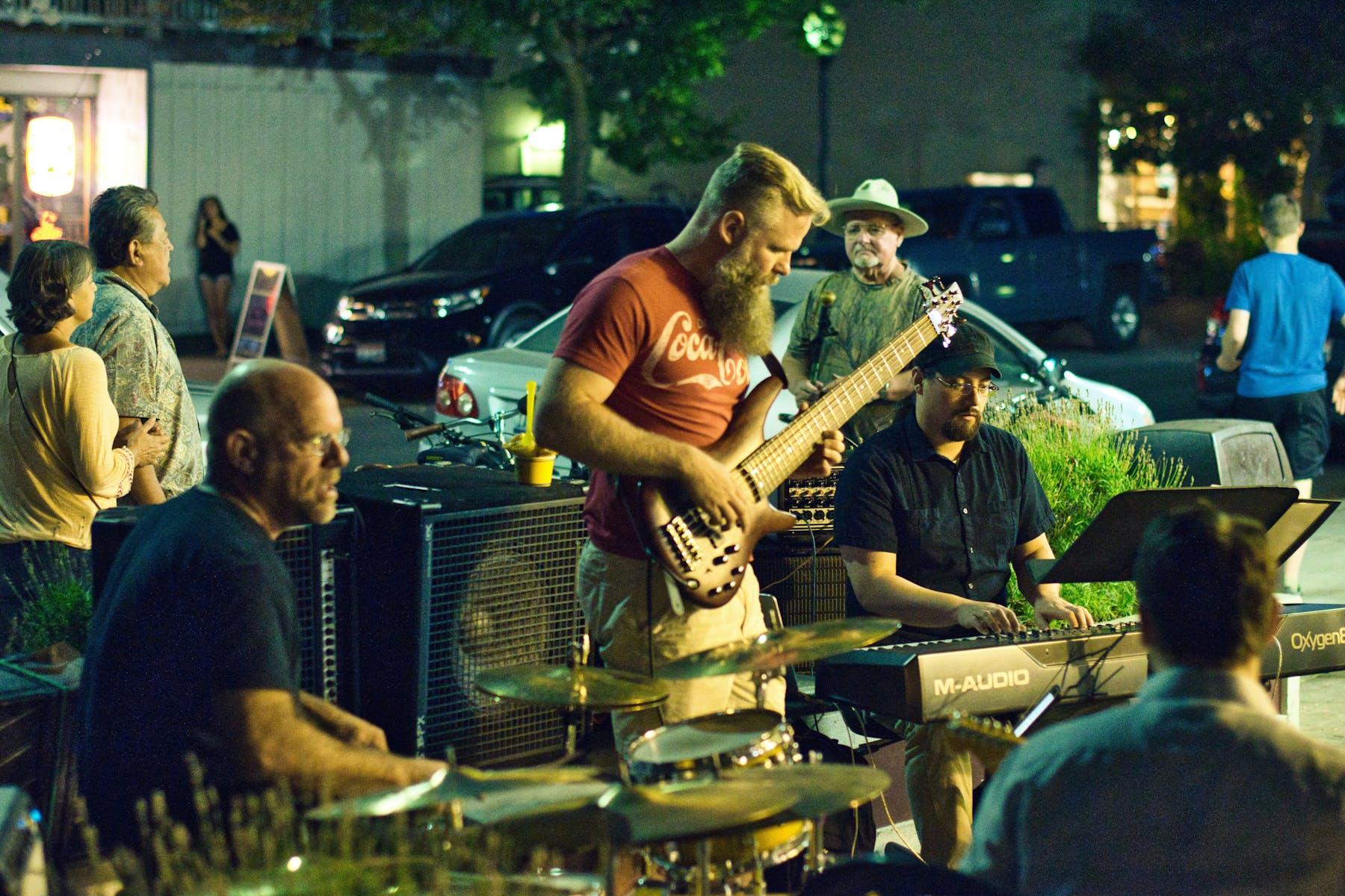 a band playing music