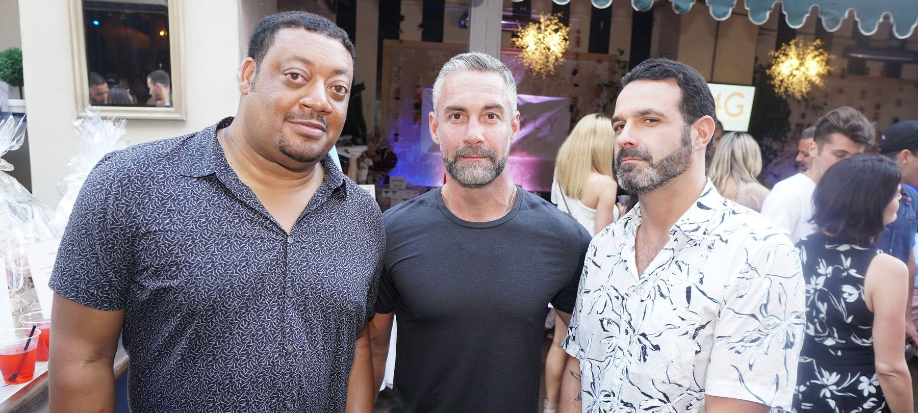 Cedric Yarbrough, Jay Harrington, Rob Evors posing for the camera
