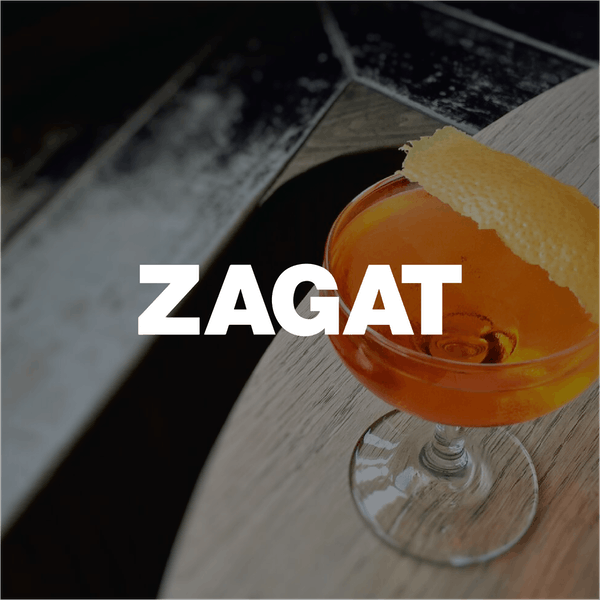 Cocktail with orange twist