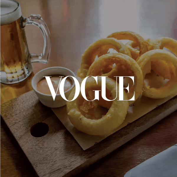 Onion rings and beer