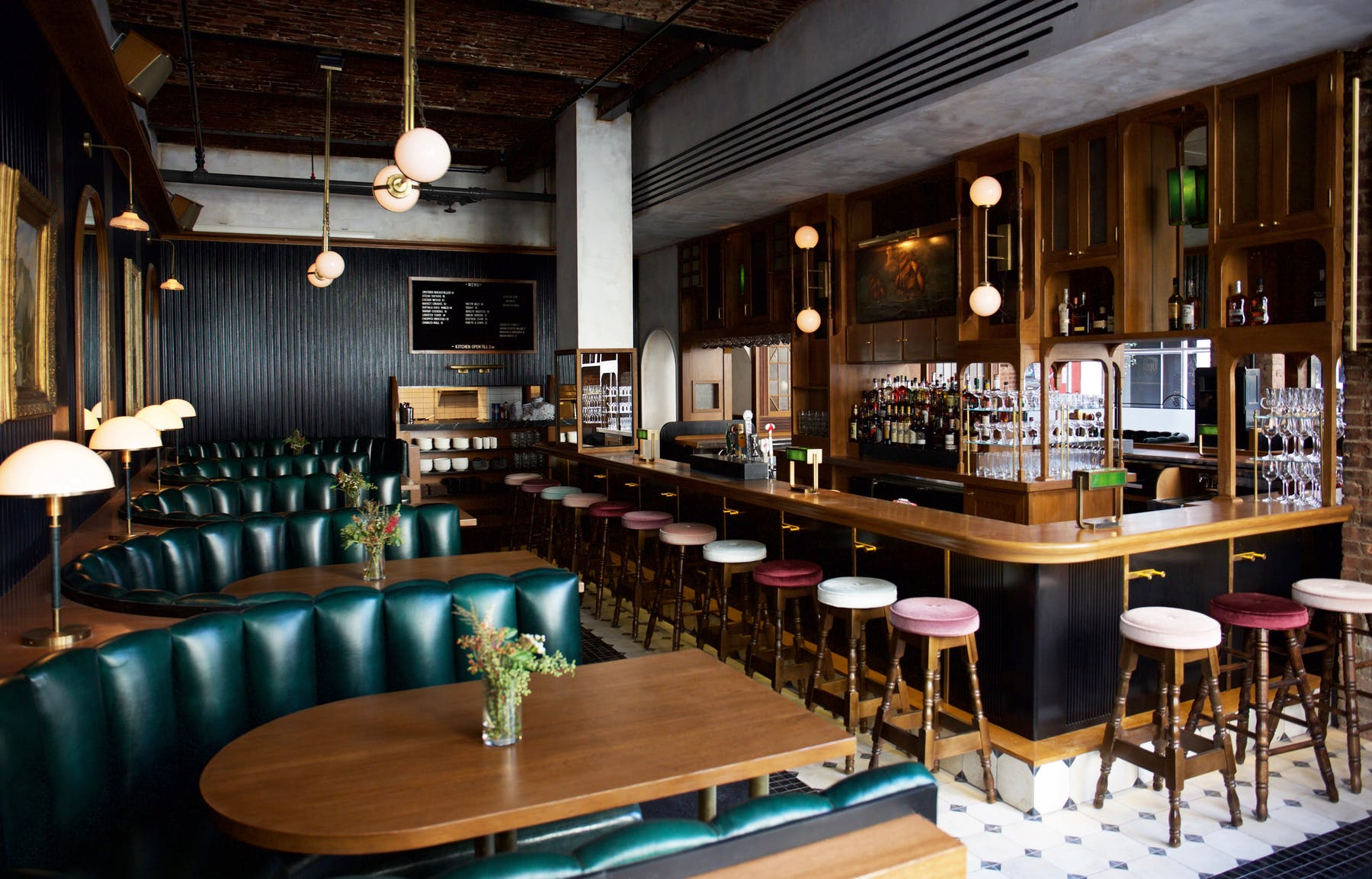 Booths and bar stools