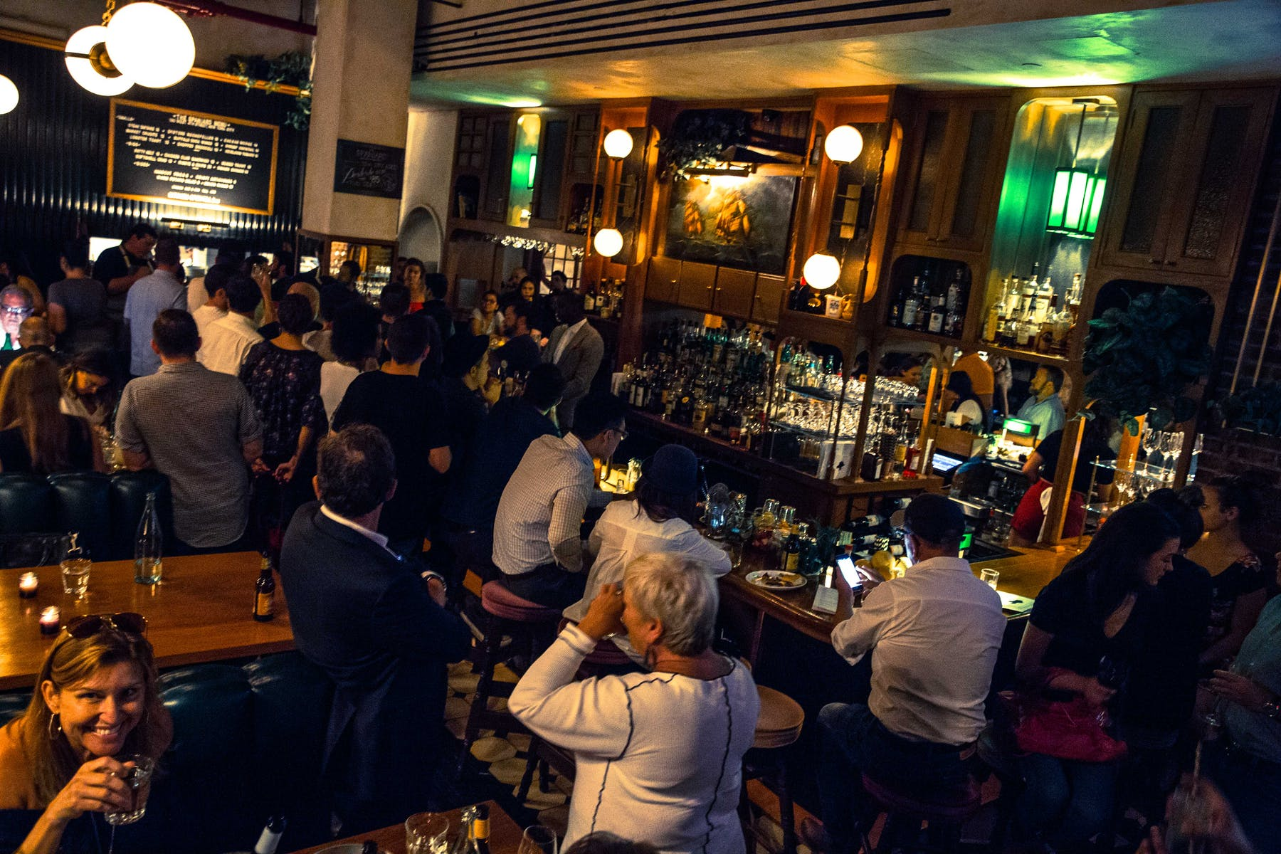 Crowded bar scene
