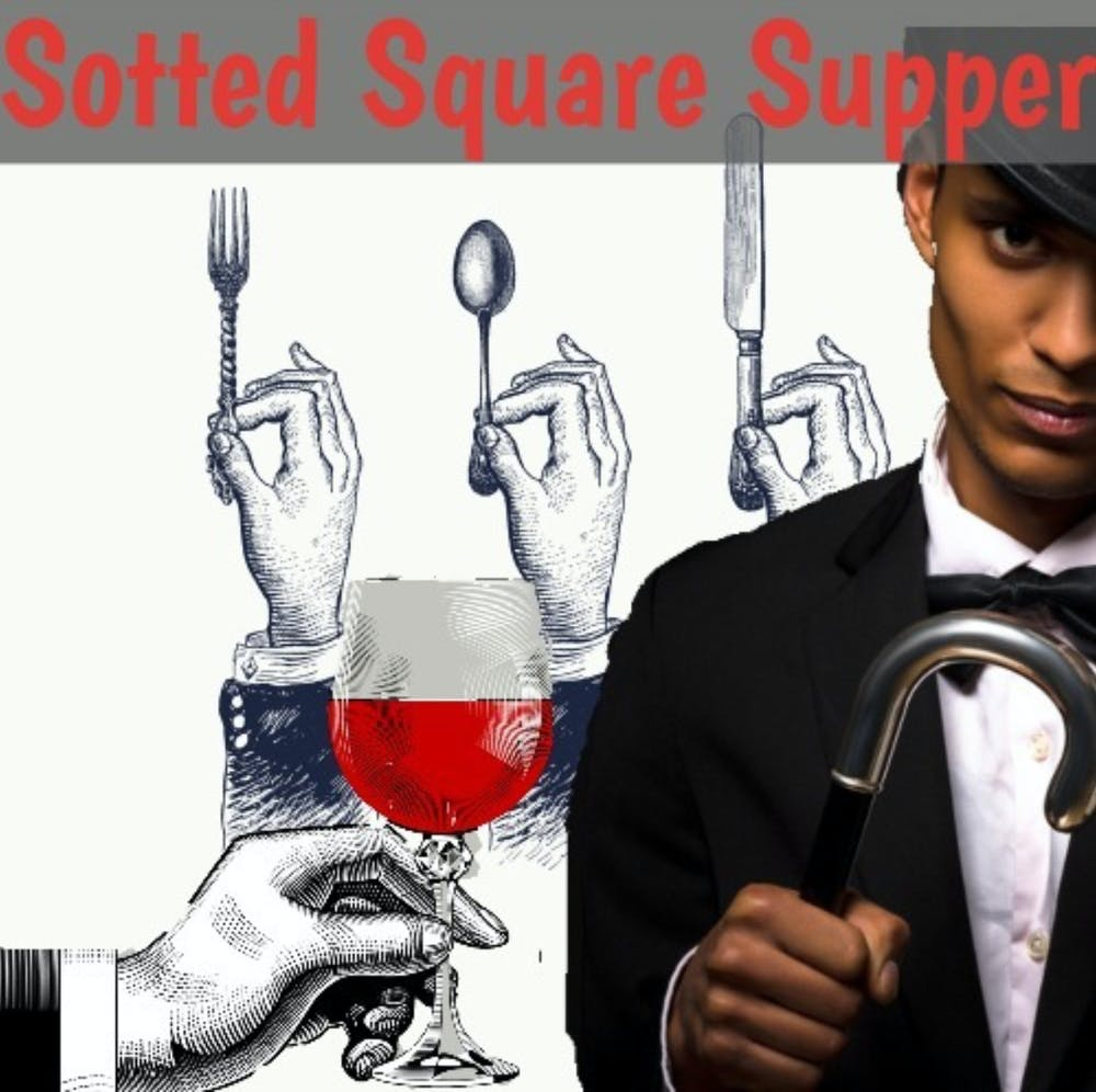 Sotted Square Supper menu poster