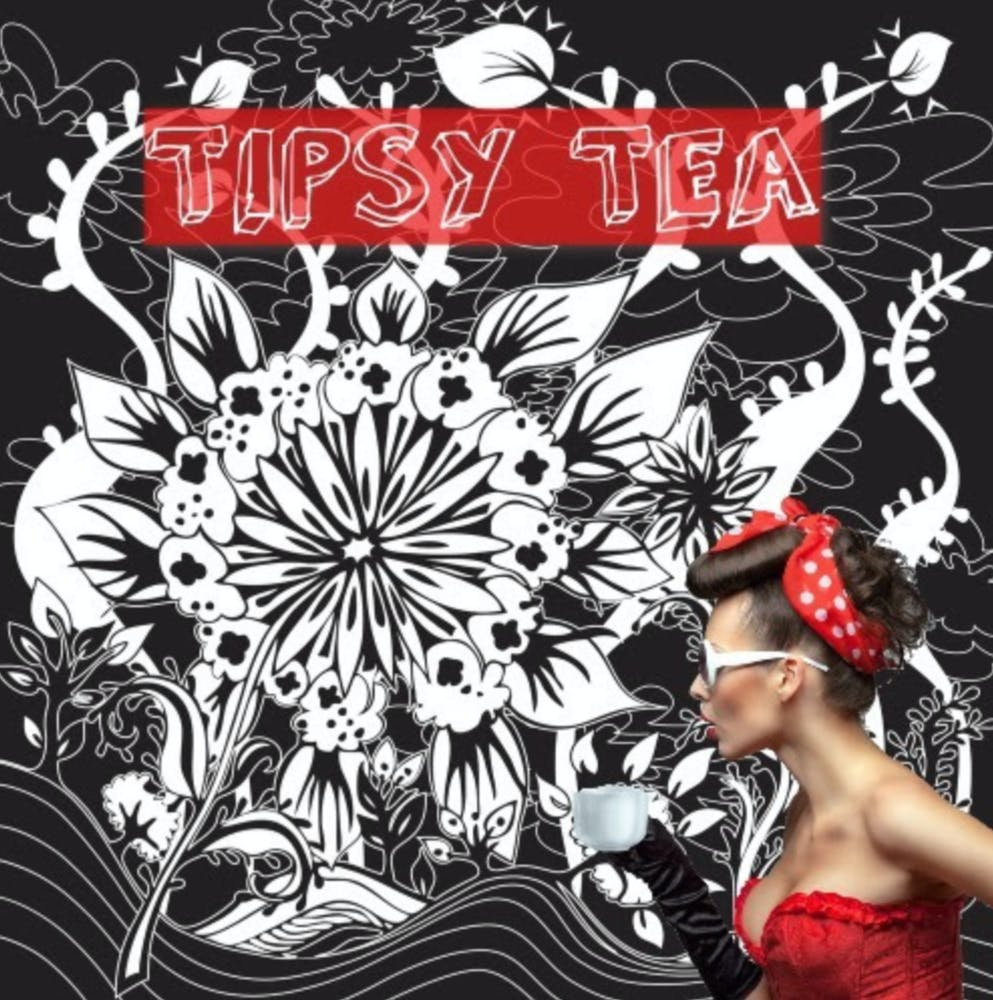 Tipsy Tea menu poster