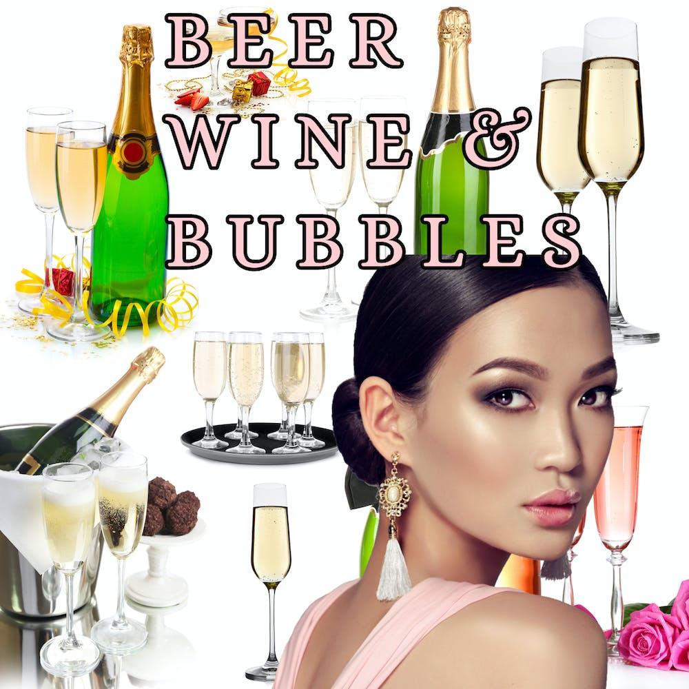 Beer Wine & Bubbles Menu poster