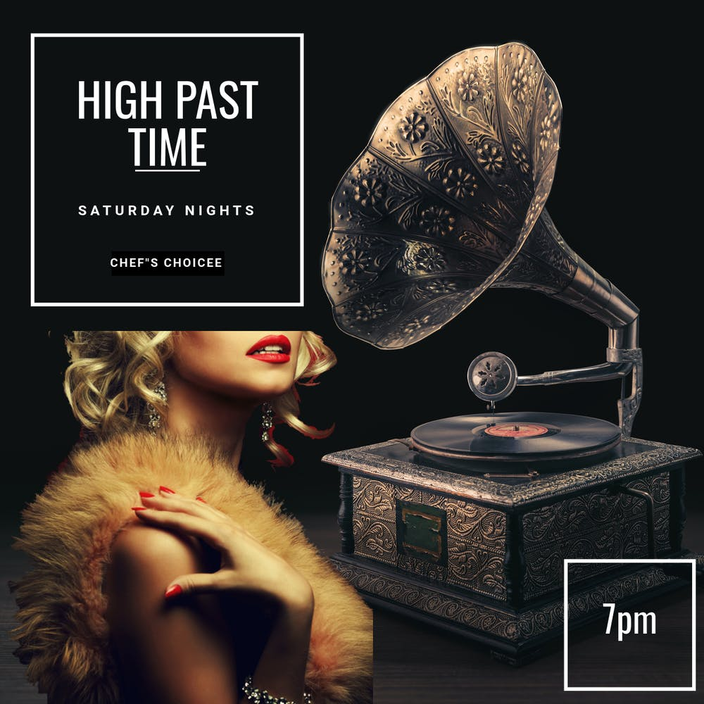 High Past Five Menu poster