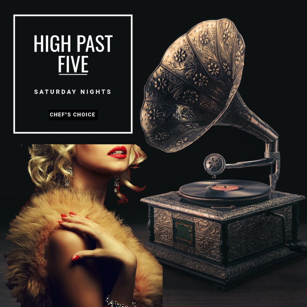 High Past Five Live menu poster