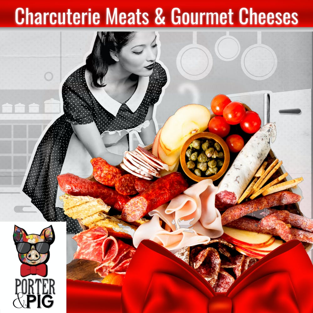 Charcuterie Meats & Cheeses Menu poster