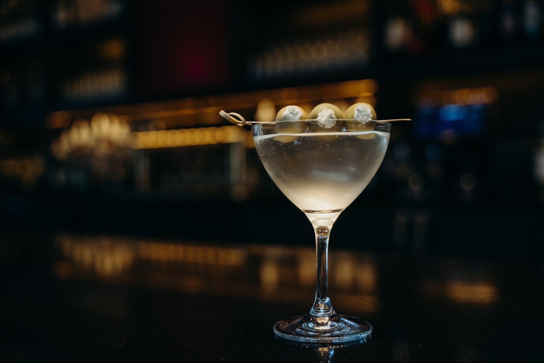 a martin in a glass
