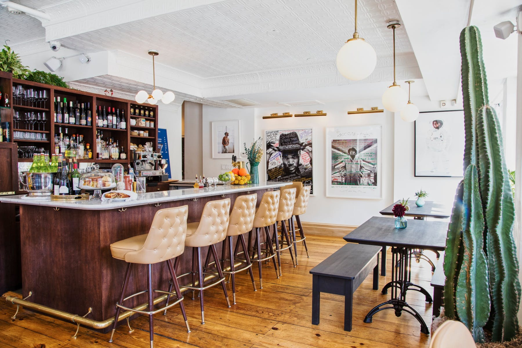 Fairfax bar and stools