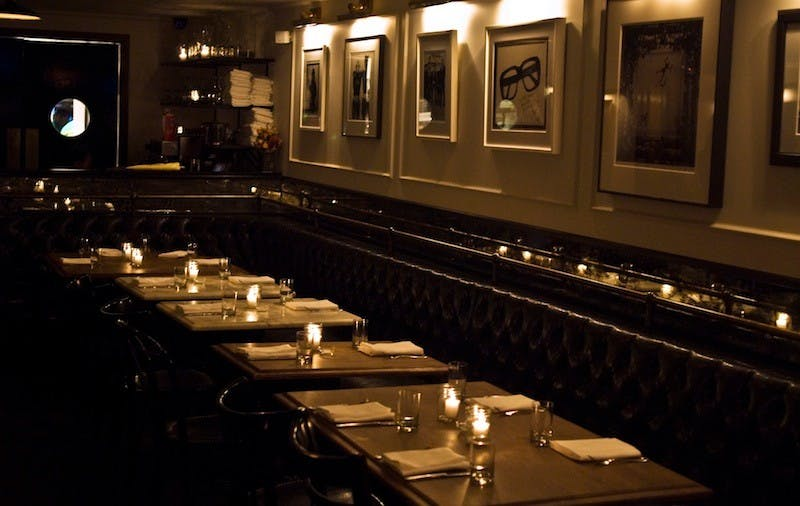 Fedoras dinning area set with tables