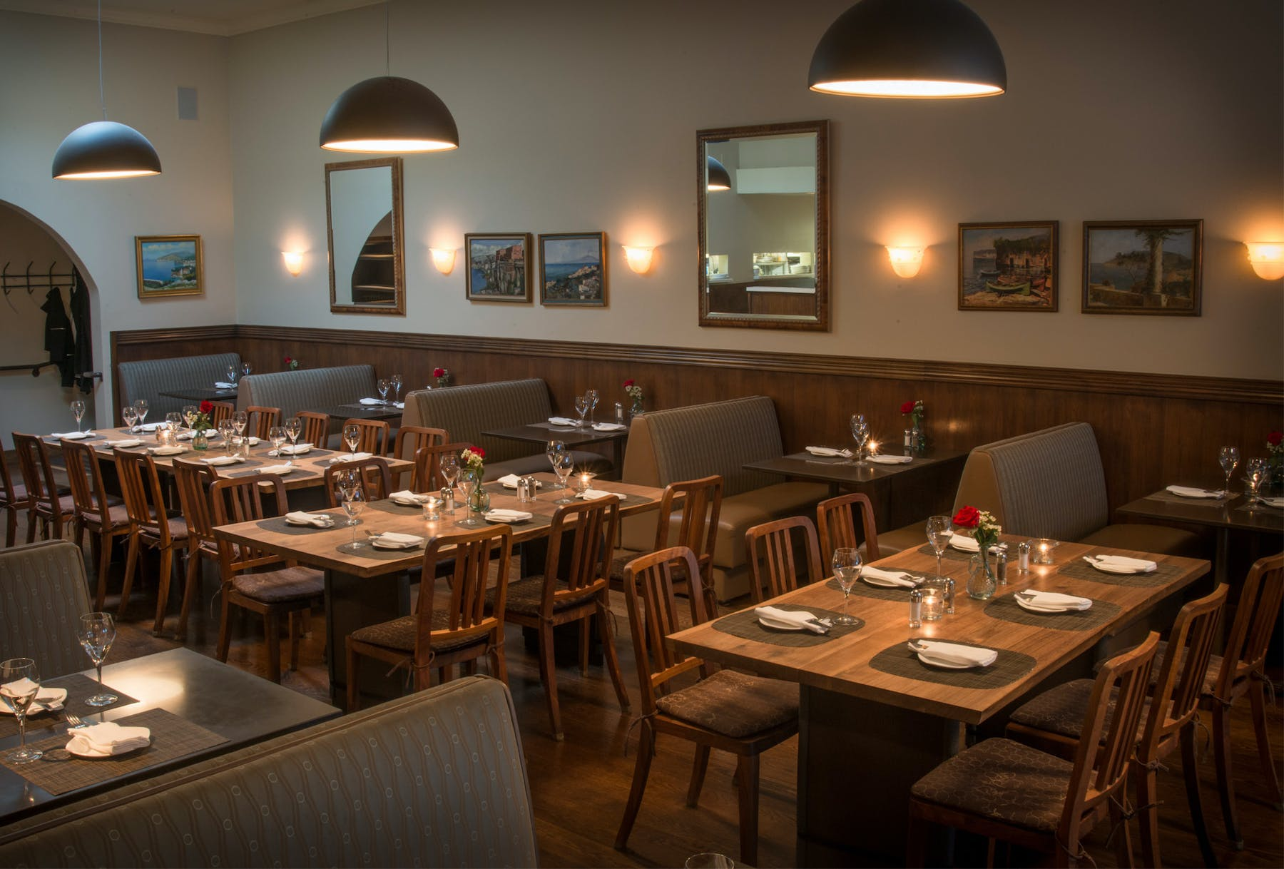 the La Ginestra dining room