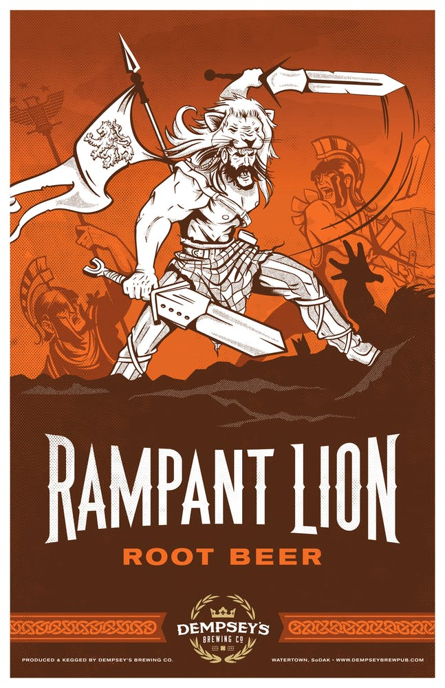 Rampant Lion Root Beer logo