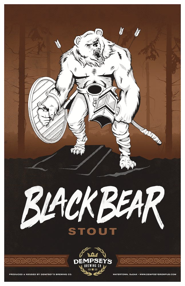 Black Bear Stout logo