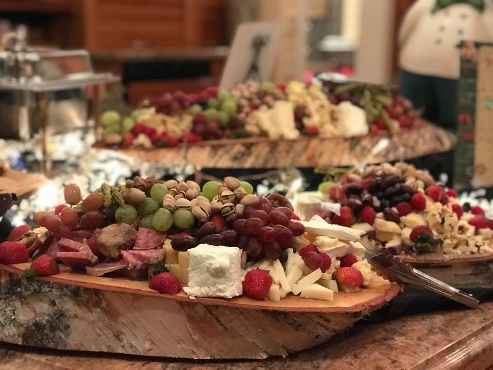a bunch of food on a table