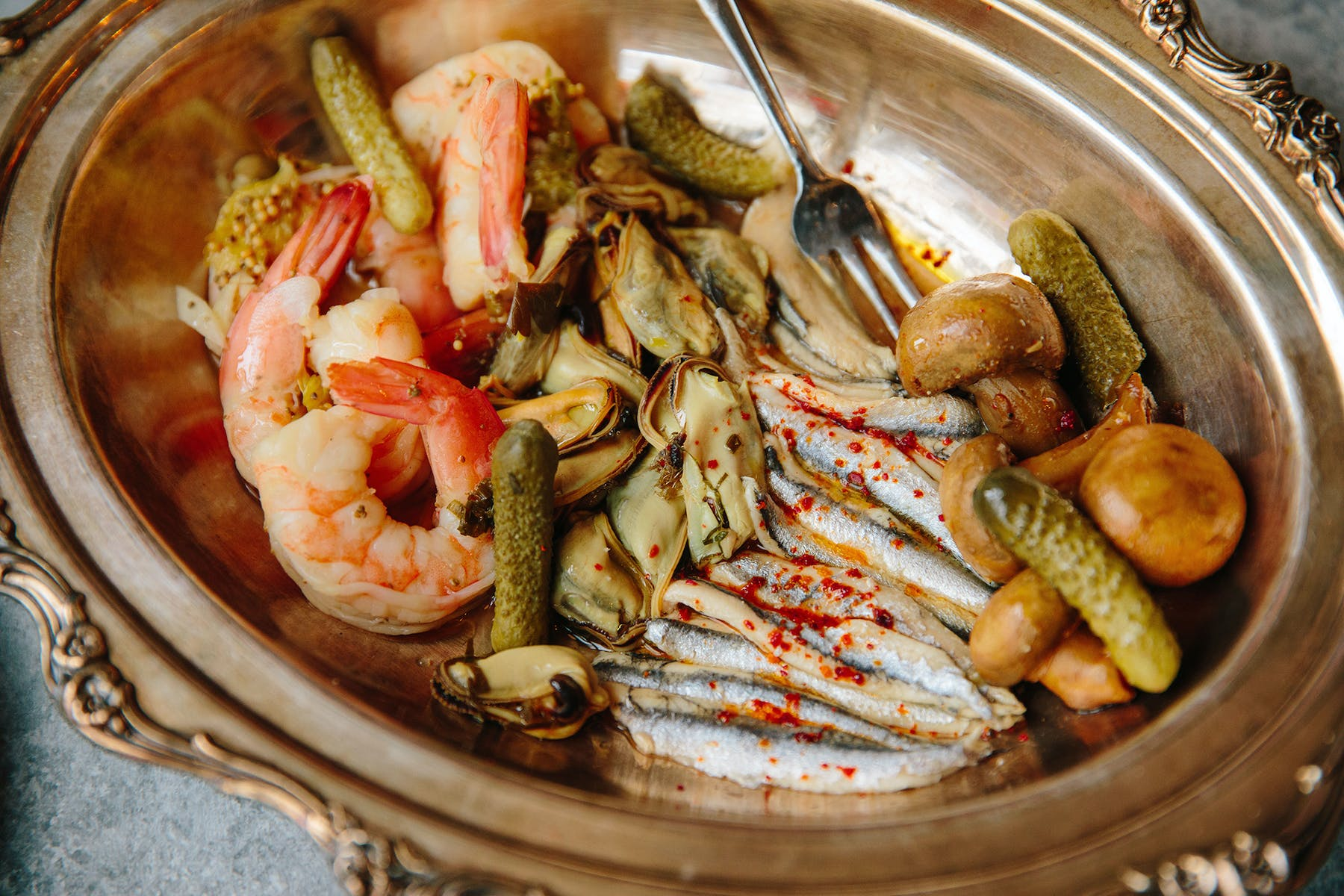 a bowl of seafood
