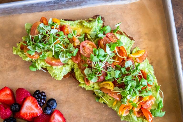 a piece of fruit salad