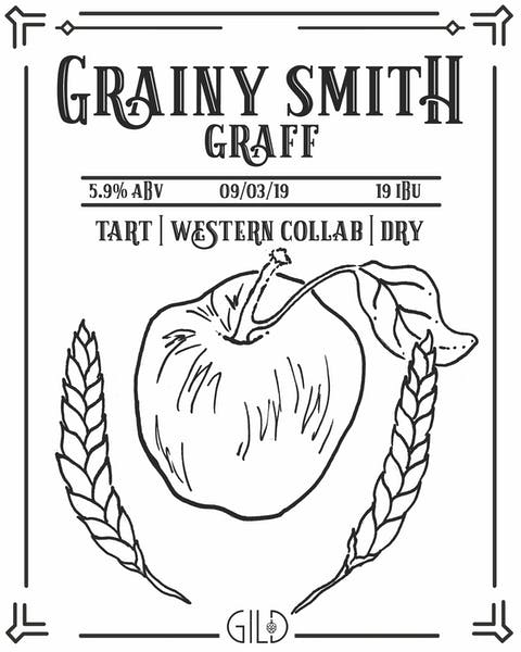 Grainy Smith apple logo