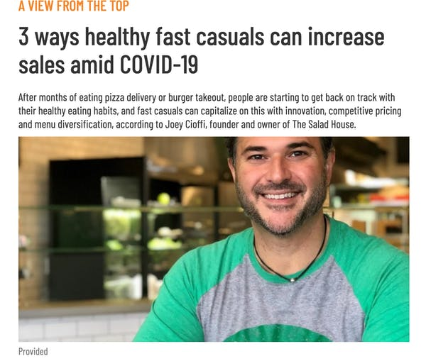 3 ways healthy fast casuals can increase sales amid COVID-19