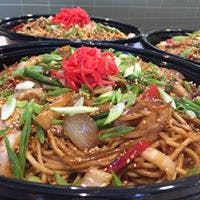 a pan filled with noodles and vegetables