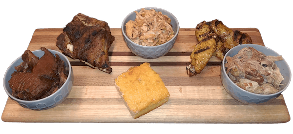 Choice of either Smoked Pork, Brisket, Wings or Smoked Chicken