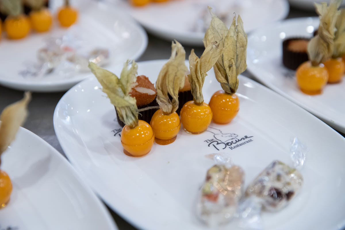 Selection of treats, Bocuse Restaurant in Hyde Park, NY at The Culinary Institute of America.