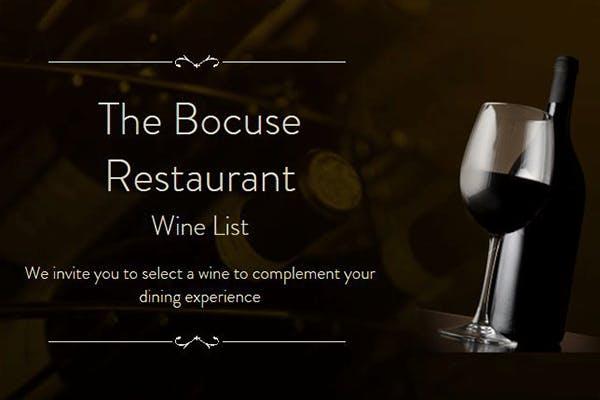 The Bocuse Restaurant's Online Wine & Beverage List