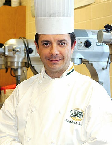 Stéphane Weber, Pastry Chef-Instructor—Lunch & Dinner, at the Bocuse French Restaurant at The Culinary Institute of America in Hyde Park, NY.