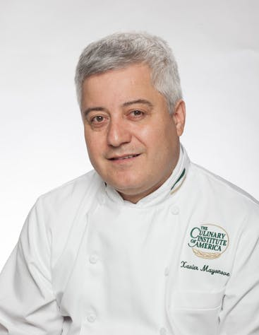 Xavier Mayonove, Chef-Instructor—Dinner, at the Bocuse French Restaurant at The Culinary Institute of America in Hyde Park, NY.