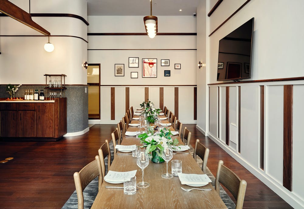 The private dining room at Maialino Mare
