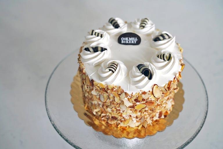 a cake on a plate