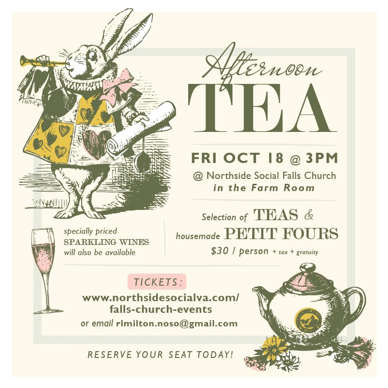 October Afternoon Tea at Northside Social Falls Church