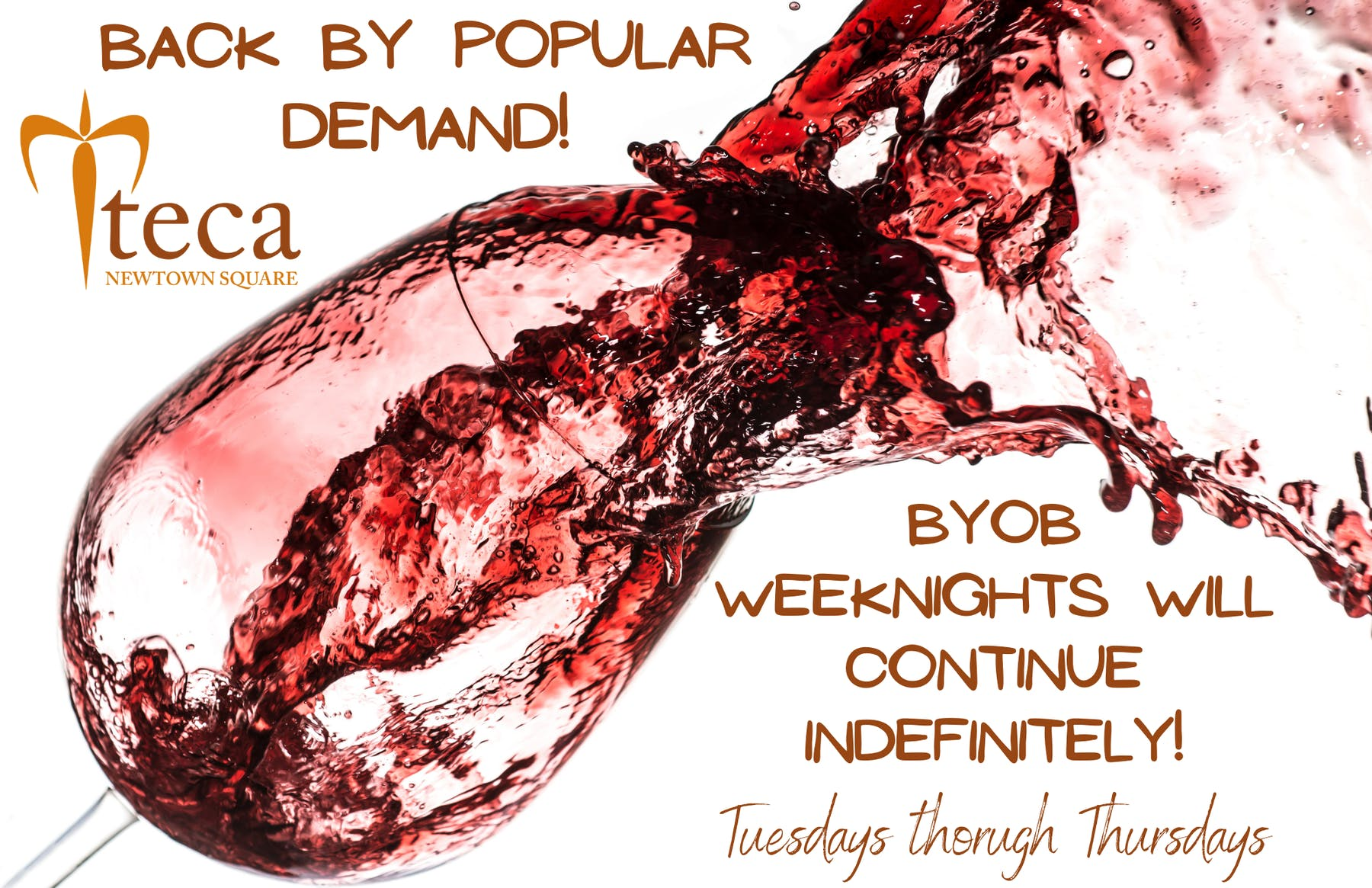 Bring Your Own Wine Night Flyer