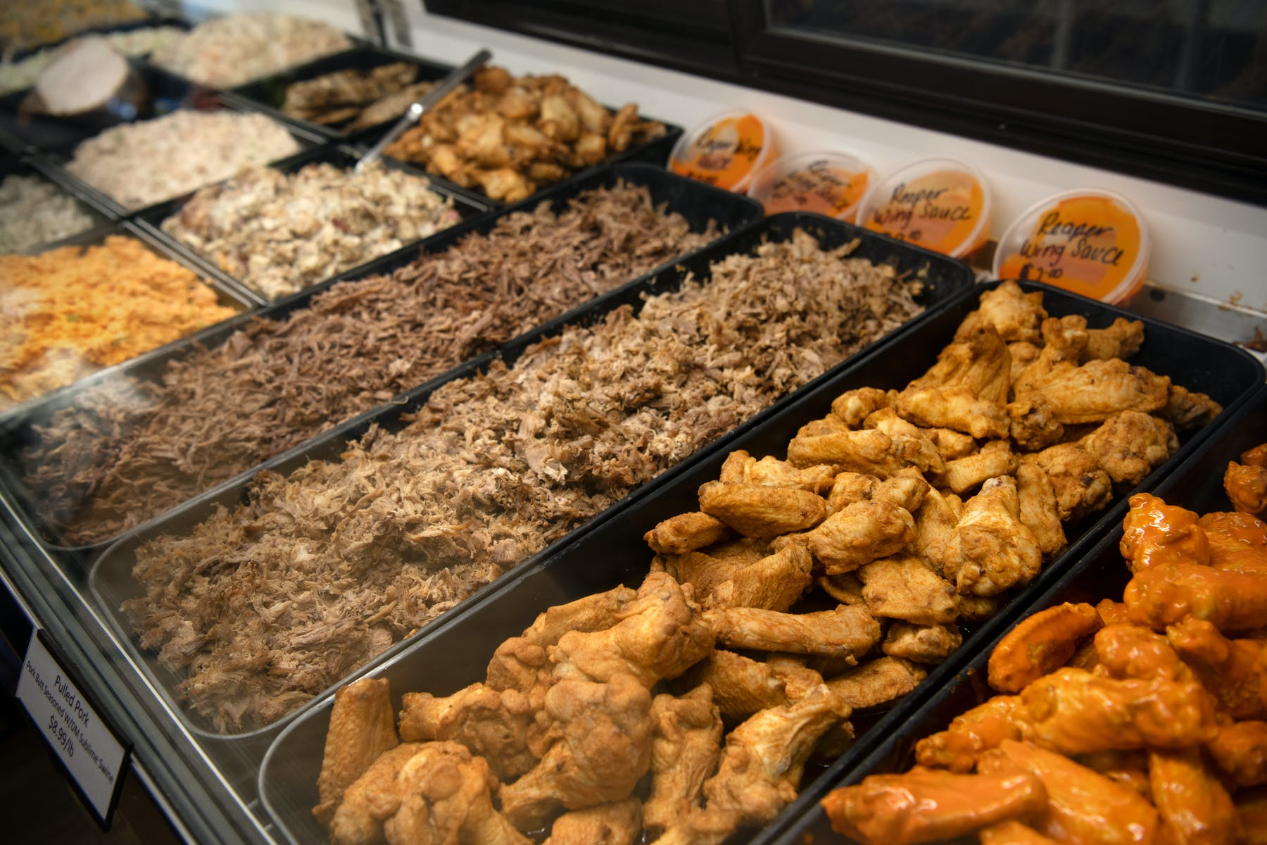 A variety of meat supplied by catering provider The Great East Butcher in Portland, ME