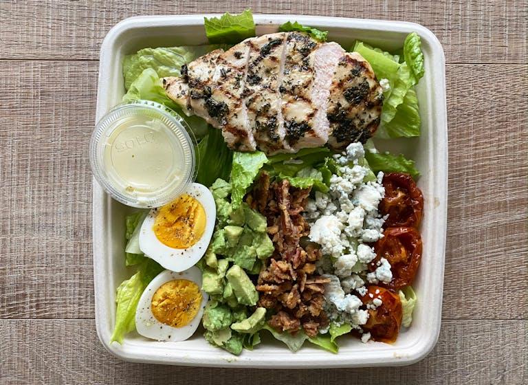 A Cobb Salad box
