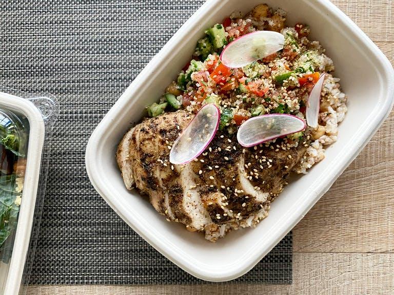 the Mediterranean Grilled Chicken Grain Bowl