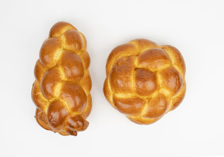 loaves of homemade Challah bread
