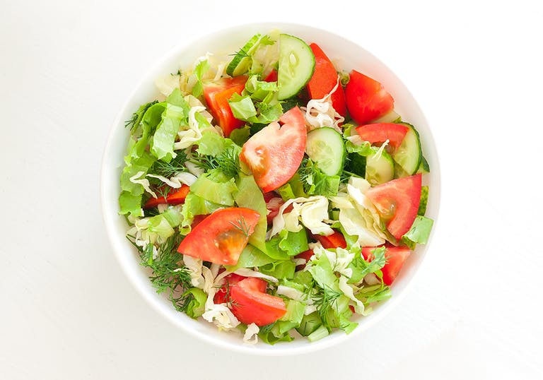 a small bowl of salad