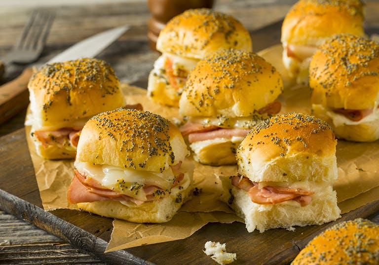 a plate of sandwiches