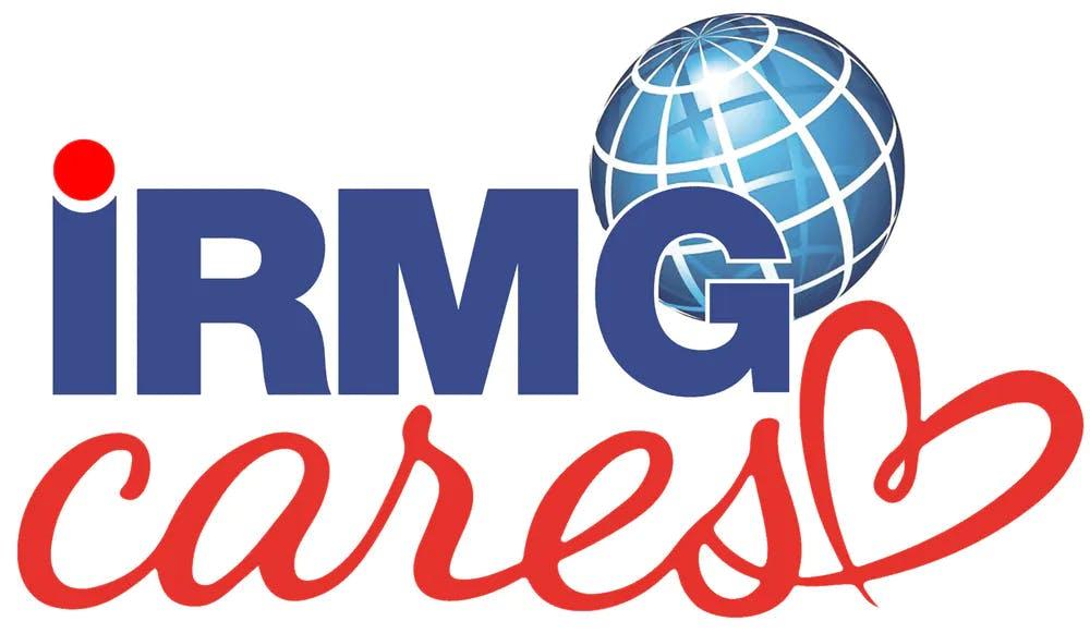 IRMG Cares logo