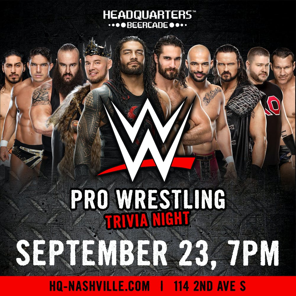 Adam Scherr, Baron Corbin, Roman Reigns, Seth Rollins, Ricochet, Drew Galloway, Kevin Steen, Randy Orton posing for a photo