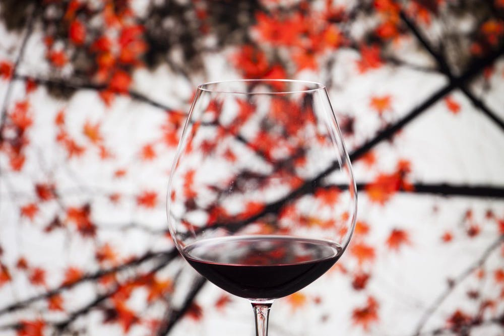 a close up of a wine glass